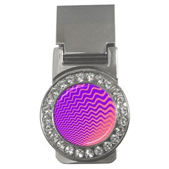 Pink And Purple Money Clips (cz)