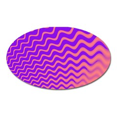 Pink And Purple Oval Magnet