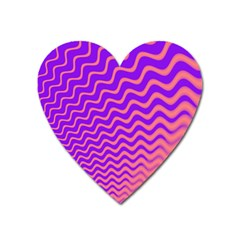 Pink And Purple Heart Magnet