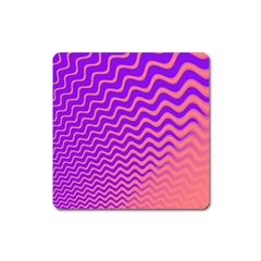 Pink And Purple Square Magnet