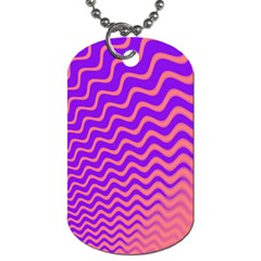 Pink And Purple Dog Tag (One Side)