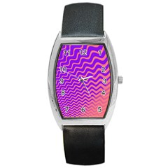 Pink And Purple Barrel Style Metal Watch