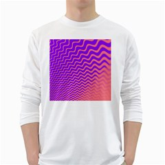 Pink And Purple White Long Sleeve T-Shirts