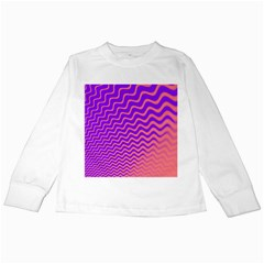 Pink And Purple Kids Long Sleeve T Shirts