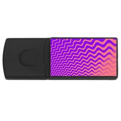 Pink And Purple USB Flash Drive Rectangular (4 GB)