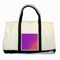 Pink And Purple Two Tone Tote Bag
