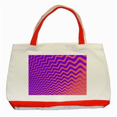 Pink And Purple Classic Tote Bag (red)