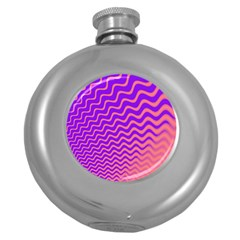Pink And Purple Round Hip Flask (5 oz)