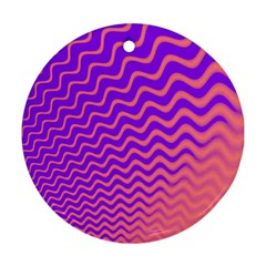 Pink And Purple Round Ornament (Two Sides)