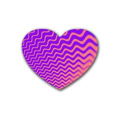 Pink And Purple Heart Coaster (4 pack)