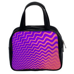 Pink And Purple Classic Handbags (2 Sides)