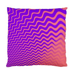 Pink And Purple Standard Cushion Case (two Sides)