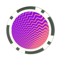 Pink And Purple Poker Chip Card Guard (10 pack)