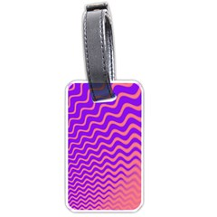 Pink And Purple Luggage Tags (One Side)