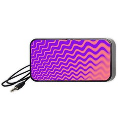 Pink And Purple Portable Speaker (Black)