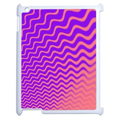 Pink And Purple Apple iPad 2 Case (White)