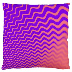 Pink And Purple Large Cushion Case (one Side)