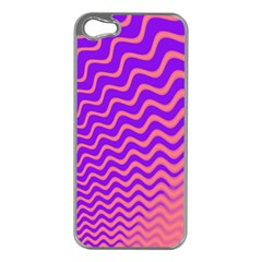 Pink And Purple Apple iPhone 5 Case (Silver)