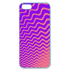 Pink And Purple Apple Seamless iPhone 5 Case (Color)