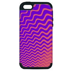Pink And Purple Apple iPhone 5 Hardshell Case (PC+Silicone)