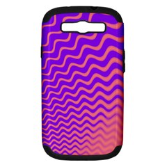 Pink And Purple Samsung Galaxy S III Hardshell Case (PC+Silicone)