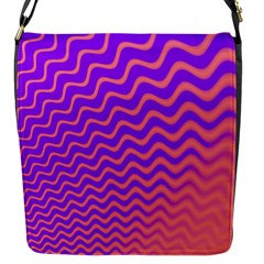 Pink And Purple Flap Messenger Bag (S)
