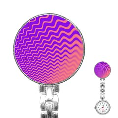 Pink And Purple Stainless Steel Nurses Watch