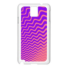 Pink And Purple Samsung Galaxy Note 3 N9005 Case (White)