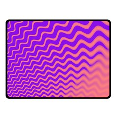 Pink And Purple Double Sided Fleece Blanket (Small)