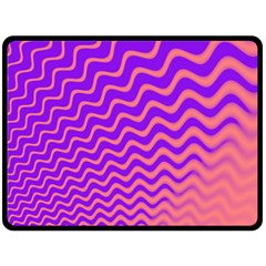 Pink And Purple Double Sided Fleece Blanket (large)