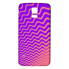 Pink And Purple Samsung Galaxy S5 Back Case (White)
