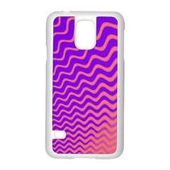 Pink And Purple Samsung Galaxy S5 Case (White)