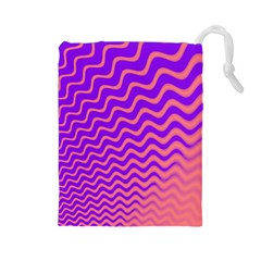 Pink And Purple Drawstring Pouches (Large)