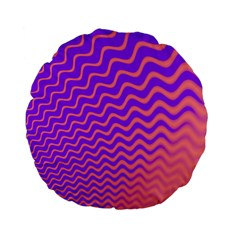 Pink And Purple Standard 15  Premium Flano Round Cushions