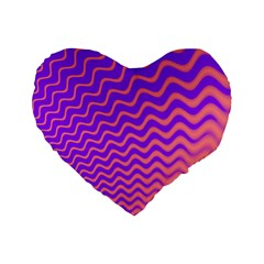 Pink And Purple Standard 16  Premium Flano Heart Shape Cushions