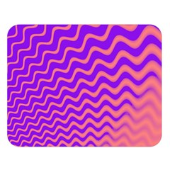 Pink And Purple Double Sided Flano Blanket (Large)
