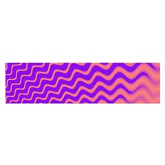 Pink And Purple Satin Scarf (Oblong)