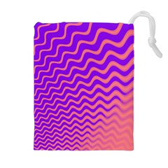 Pink And Purple Drawstring Pouches (Extra Large)