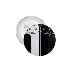 Texture Cats Black White 1.75  Buttons