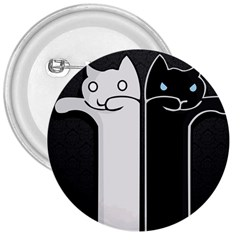 Texture Cats Black White 3  Buttons
