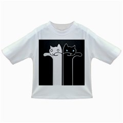 Texture Cats Black White Infant/toddler T Shirts