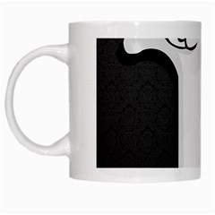 Texture Cats Black White White Mugs