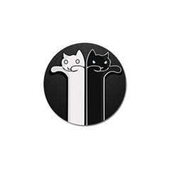 Texture Cats Black White Golf Ball Marker