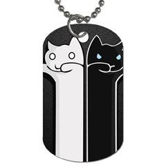 Texture Cats Black White Dog Tag (two Sides)