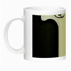 Texture Cats Black White Night Luminous Mugs