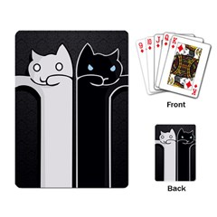 Texture Cats Black White Playing Card