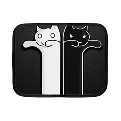 Texture Cats Black White Netbook Case (Small)