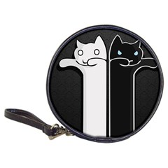 Texture Cats Black White Classic 20-CD Wallets