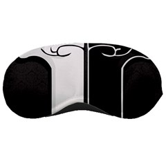 Texture Cats Black White Sleeping Masks