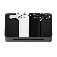 Texture Cats Black White Memory Card Reader With Cf